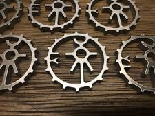 WarHammer Objective Markers - Necron Dynasty Symbol Cog - Stainless Steel - 30mm
