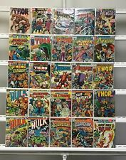 Vintage Marvel  Thor Avengers Hulk Marvel  25 Lot Comic Book Comics Set Run