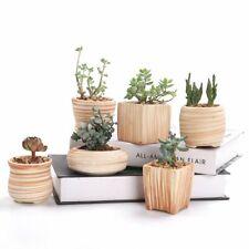 6 in Set 3 Inch Ceramic Wooden Pattern Succulent Plant Pot Cactus Plant Pot