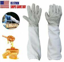1 Pair Beekeeping Protective Gloves Xl Bee Keeping Amp Vented Long Sleeves Outdoor