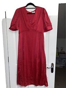 la redoute Pink Satin Midi Dress Size 16