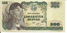 INDONESIA, 500  RUPIAH, P#109,General Sudirman @ L, 1968, UNC
