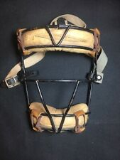 Vintage old Rawlings Catchers / Umpire Mask leather and metal