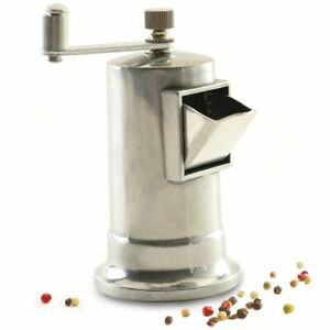 Norpro Metal Peppermill with Adjustable Grinder, tempered steel,  3 oz Capacity