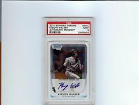 2011 BOWMAN CHROME PROSPECTS # KWA Keenyn Walker Autograph PSA 9 Mint