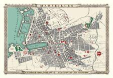 George Bradshaw'S CONTINENTAL Città Piano di Marsiglia 1896 - 1000 Pezzo Puzzle