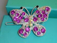 Sparkling Ornate Crysal Diamante Butterfly Hair Clip choice of 6 colours