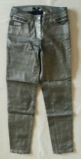 Women's Wet/Shiny Silver Color Slim/Skinny Jeans Size 4(34) by H&M New!