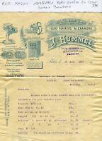 Paris XX ème 39 Rue des Cendriers - Belle Entête Secteur de la Boucherie de 1920