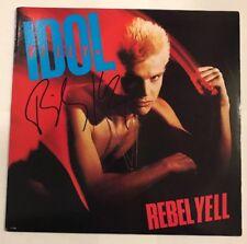 Billy Idol Signed Rebel Yell Album Vinyl LP JSA COA  # T76487 Auto