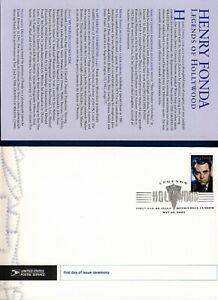 USA. 2005 Henry Fonda (3911) . First Day Cover & Ceremony Program