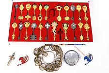 22Pcs Fairy Tail Lucy Heart Celestial Spirit Gate Key Chain Necklace Pendant