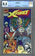 X-Force #1 (8/91) CGC 8.5. White! No UPC Code.
