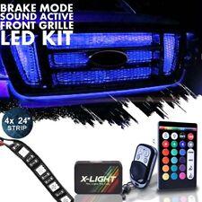 "4pcs 24"" Grille LED Exterior Nenon Glow Light Kit w Brake Mode and Music Active"