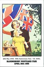 Bloomsbury Postcard Fair 1995  ltd ed  V.E. Day  JD860