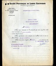 """AVIGNON (84) USINE du PONT-des-DEUX-EAUX / LAMPES ELECTRIQUES """"THORIA"""" 1933"""