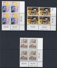 FAROE ISLANDS :1986 25th Anniversary of Amnesty Int. SG133-5 MNH blocks of four