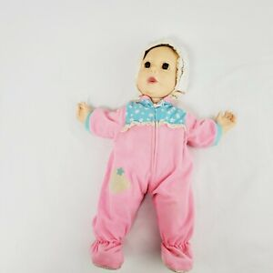"""Hasbro J Turner Real Baby Doll 20"""" 1985 Weighted"""