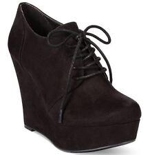 Madden Girl black suede platform shoe size 9!
