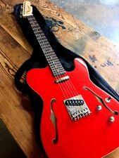 NEW SEMI HOLLOW METALLIC FIESTA RED TELE STYLE PRO TELE 6 STRING ELECTRIC GUITAR