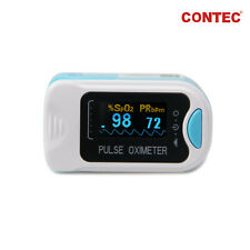 CONTEC Finger Pulse Oximeter OLED SpO2 Patient Blood Oxygen Monitor Heart Rate