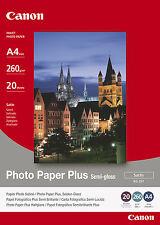 Canon Photo Paper Plus Semigloss A4 260gsm 20 Sheets