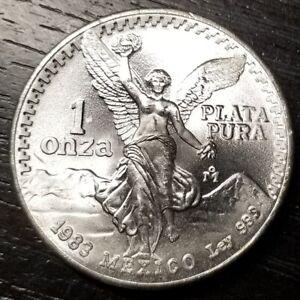 GEM UNC 1983 Mexico Libertad 1 Oz 999 Silver - No Reserve!