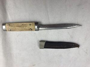Altes Hirschhorn Jagdmesser Trachtenmesser Horngriff