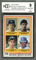Paul Molitor / Alan Trammell Rookie Card 1978 Topps #707 Tigers BGS BCCG 9