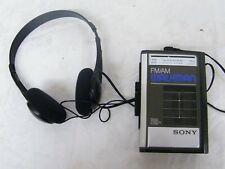 Vintage FM/AM Sony Walkman Stereo Cassette Player