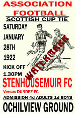 STENHOUSEMUIR - VINTAGE 1920's STYLE MATCH POSTER
