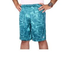 Russell Men's Performance Teal Printed Shorts Size S (28/30)