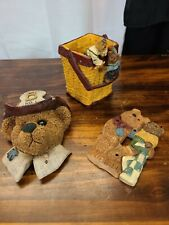 Lot Of Teddy Bear Room Decor Items: Lightswitch Cover, Pencil Holder, Wall Decor