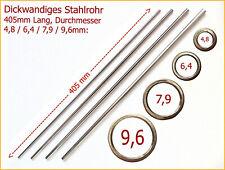 (39,48€/m) Dickwandiges Stahlrohr 405mm Lang, 4 Varianten (zum Glas blasen)