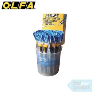 36x OLFA (2B / 180B) 9MM- ( CARPET, SUBSTRATE, STANLEY KNIFE, SNAP OFF BLADE)