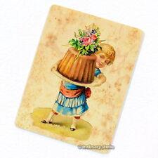 Cupcake & Victorian Girl Deco Magnet, Decorative Fridge Kitchen Baker Gift Cake