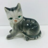 VINTAGE KITTEN CAT ORNAMENT FIGURE CERAMIC