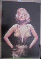 MARILYN MONROE MOVIE POSTER Reprint 27x40 TRAVILLA GOLD DRESS