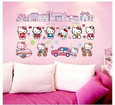 Hello Kitty Wall Stickers Kids Room Decor Art Wall Decals Decal Home Mural DIY