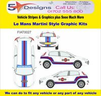 FIAT Punto EVO 5 Dr 2009-14 Le Mans Martini Race Rally Logo Graphics Kit 27