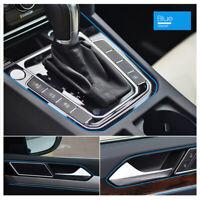 5M AUTO ACCESSORIES CAR Universal Interior Gap Decorative Blue Line CHROME Shiny