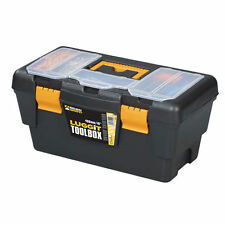 "16"" DIYTool Box - Plastic Storage Case inc Tray - Orgainser Box Tools Equipment"