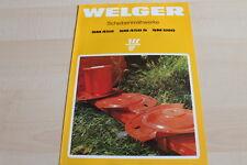 128928) Welger SM 450 600 S Scheibenmähwerk Prospekt 05/1989