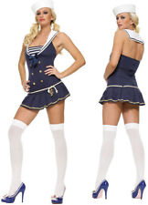 Sexy Navy Sailor Halloween Adult Womens Costume Roleplay Party Size X-Small
