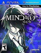 Mind Zero Mind=0 0 SEALED W/ CASE (Sony PlayStation Vita, 2014) PS PSVITA