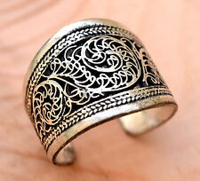 Adjustable Nepal Tibetan Ring Amulet Jewelry Filigree Stacking Gypsy Ethnic Boho