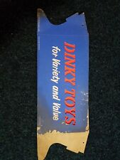 Vintage Dinky Toys Counter Display Sign advertising rare find