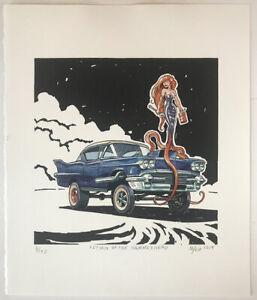 Return Of The Hammerhead, 1958 Cadillac Gasser, Original Relief Print