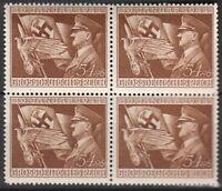 SALE Stamp Germany Mi 865 Sc B252 Block WWII 3rd Reich Adolf Hitler AH Flag MNH