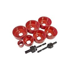 9PC HOLE SAW SET DOWN LIGHT HOLE CUTTER CIRCULAR TOOTH SAW DRIVE ARBOR 22MM~67MM